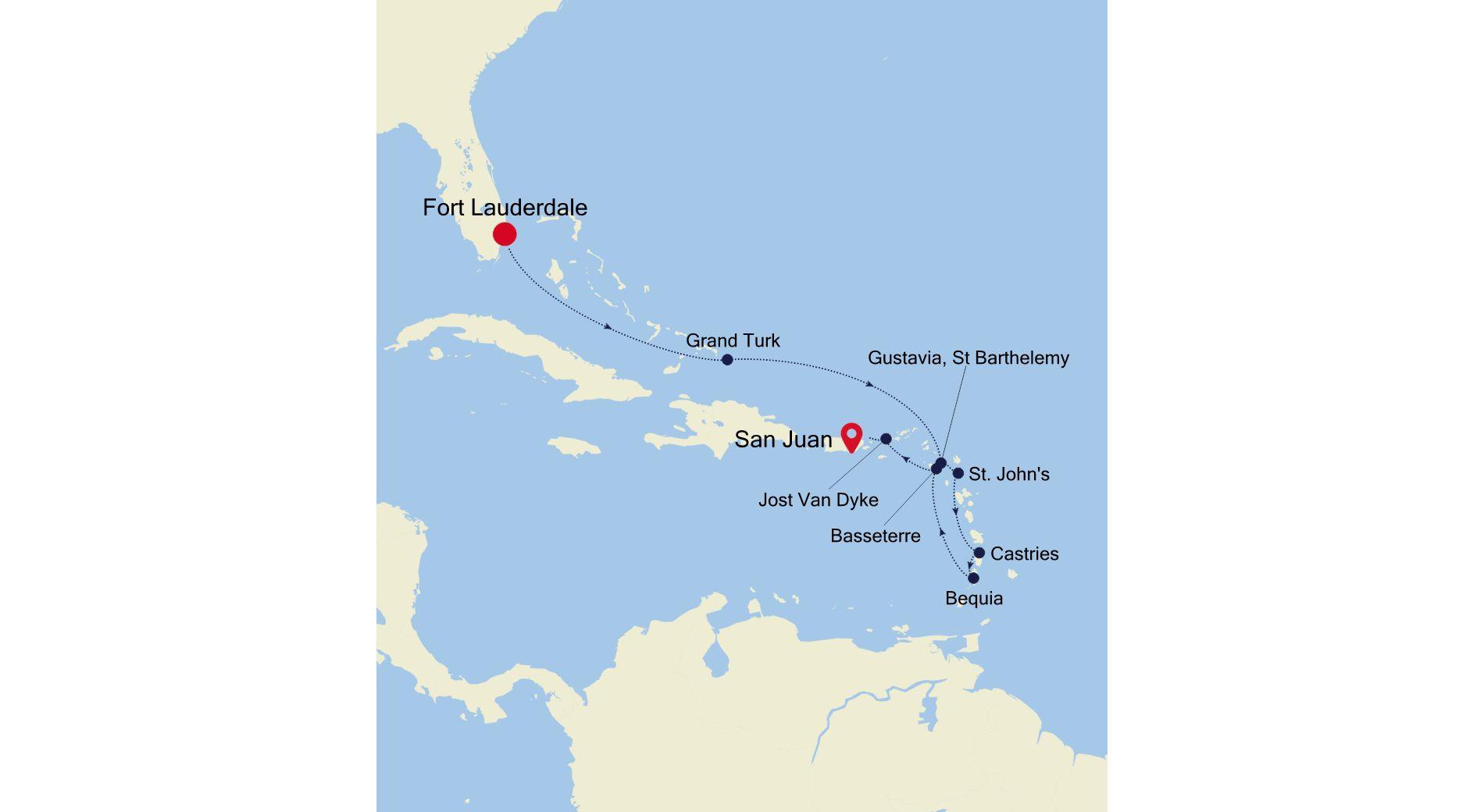SS210129010 - Fort Lauderdale nach San Juan