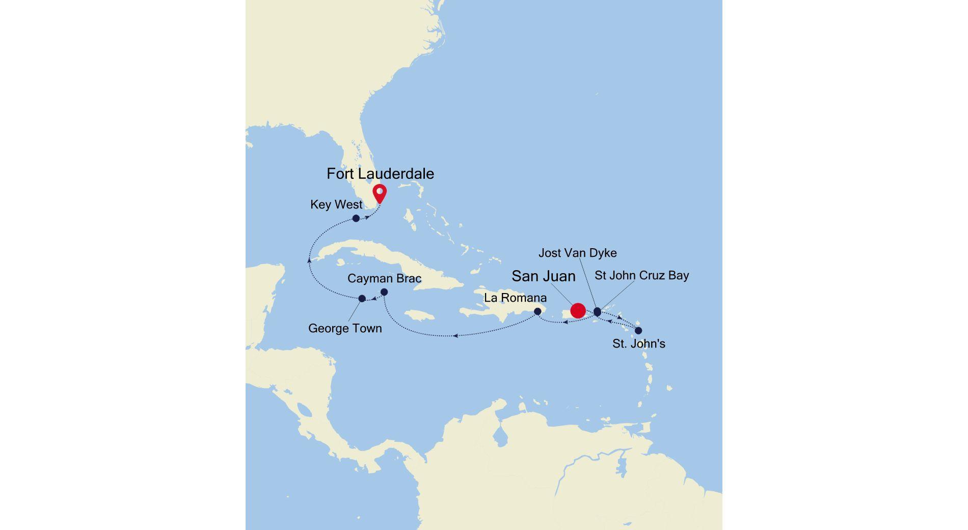 SS210222010 - San Juan à Fort Lauderdale
