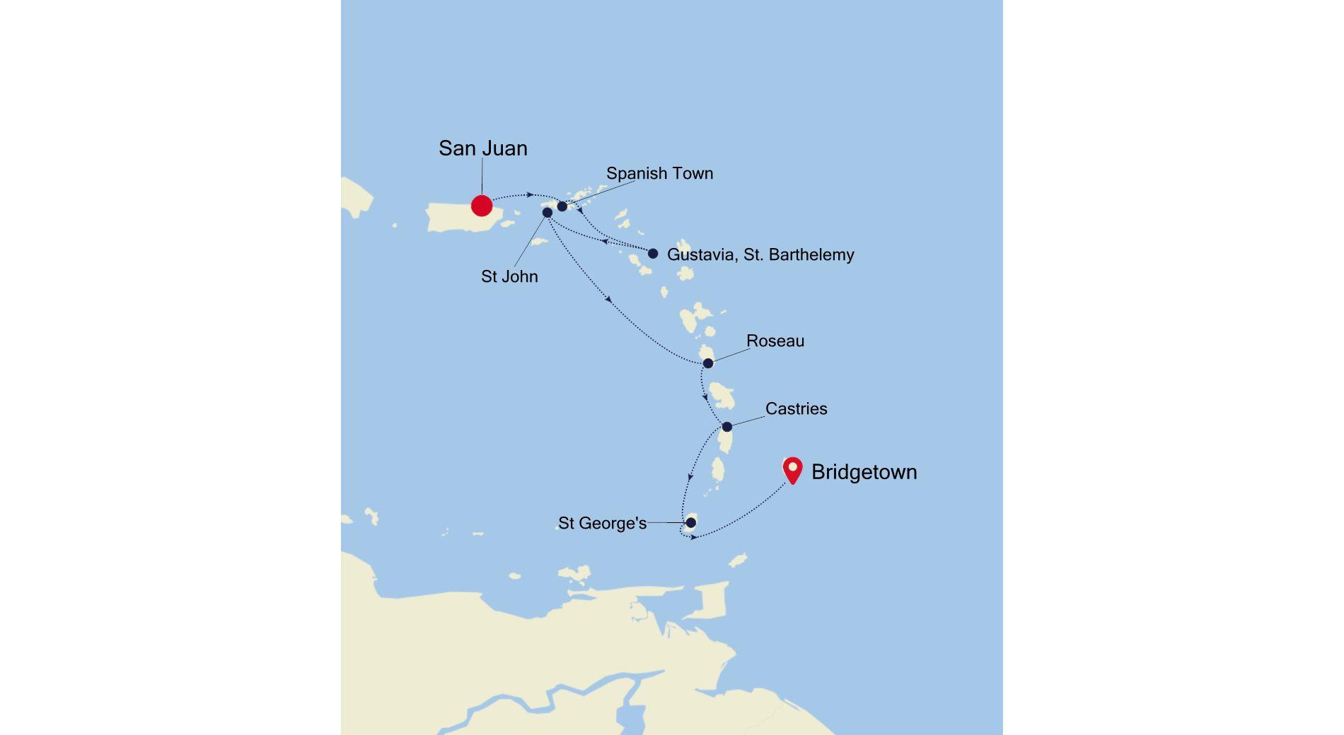 SS210222S07 - San Juan a Bridgetown