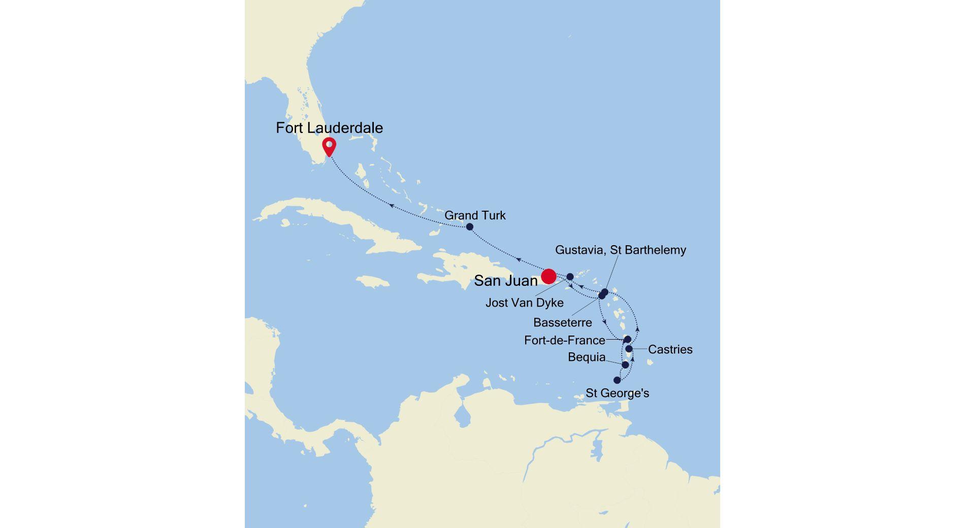 SS210325011 - San Juan a Fort Lauderdale