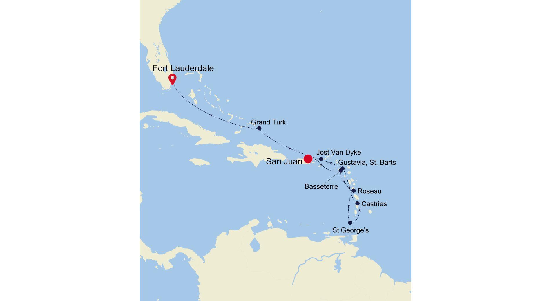 SS210326010 - San Juan a Fort Lauderdale