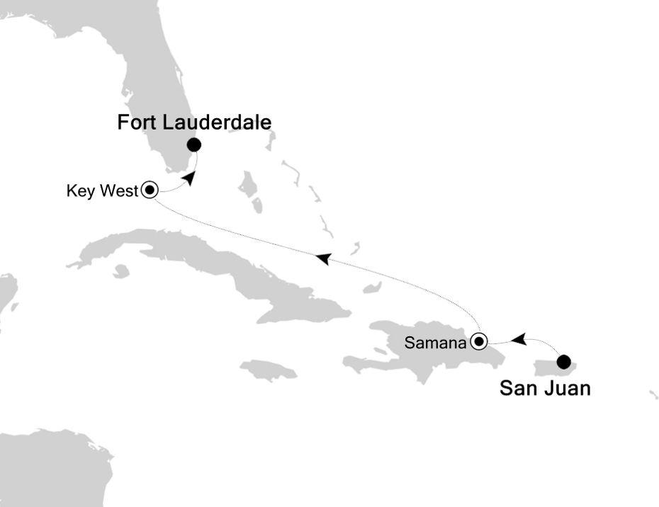 5831B - San Juan à Fort Lauderdale