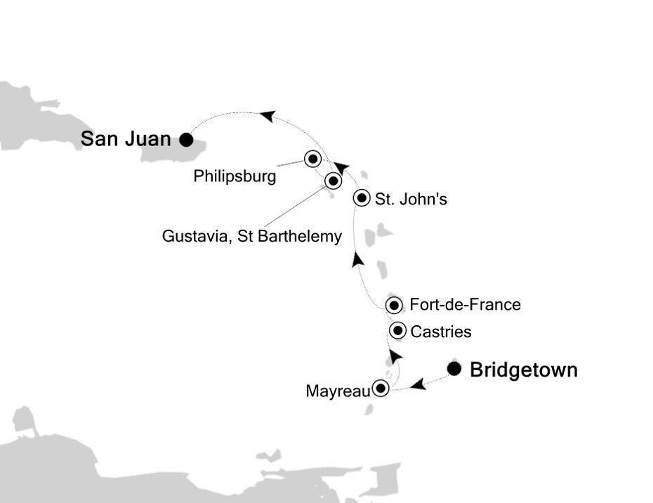 5909B - Bridgetown à San Juan