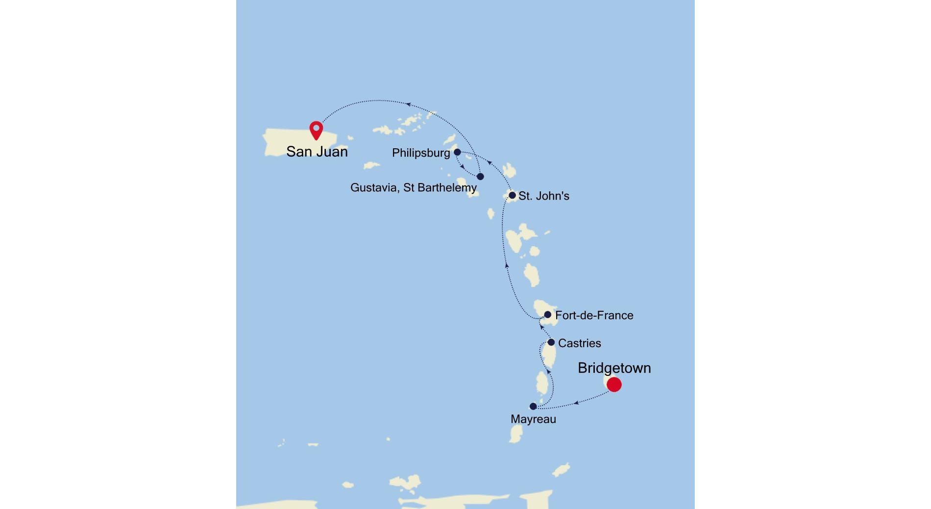 5909B - Bridgetown nach San Juan