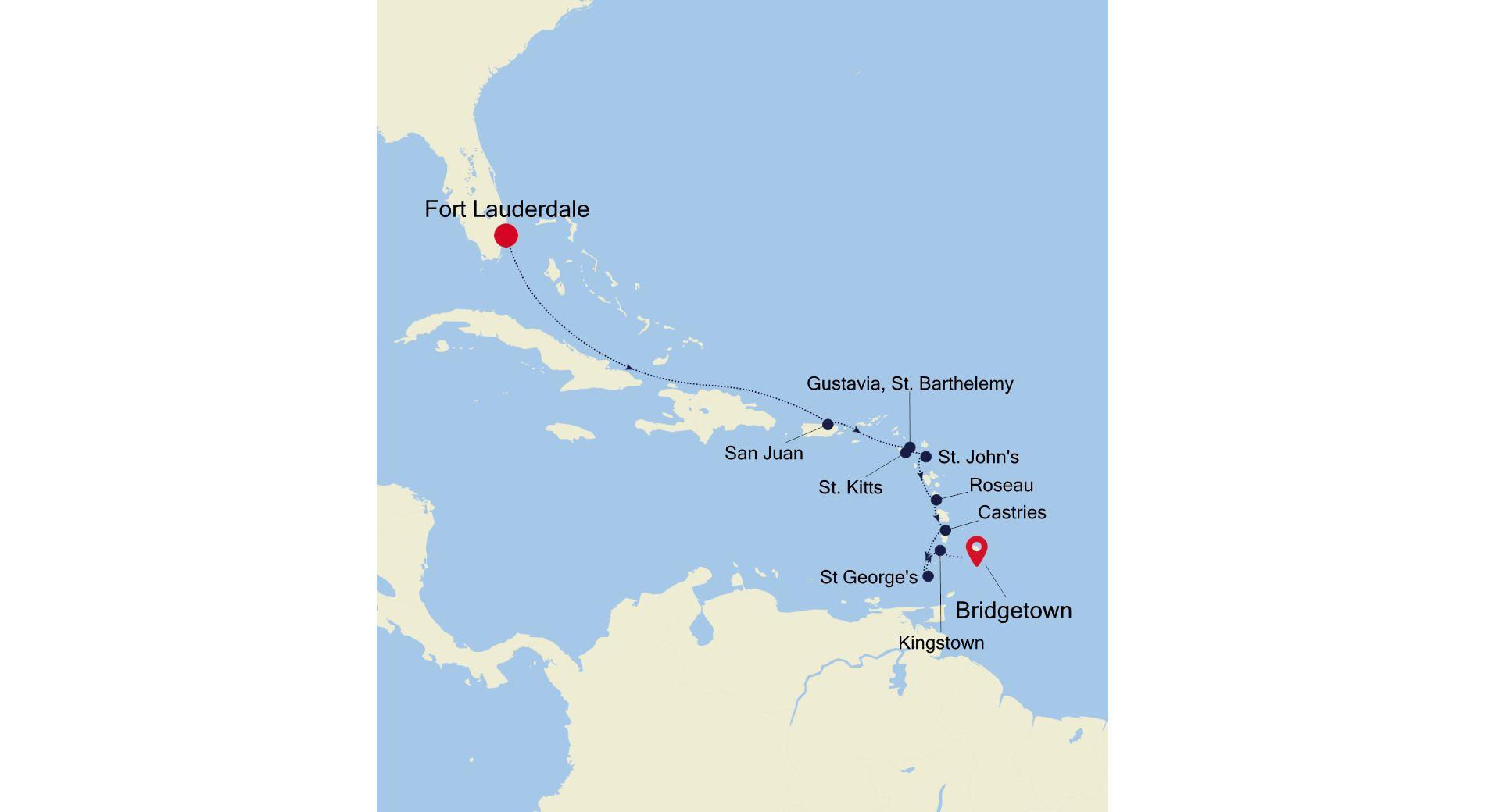 SL220125011 - Fort Lauderdale à Bridgetown