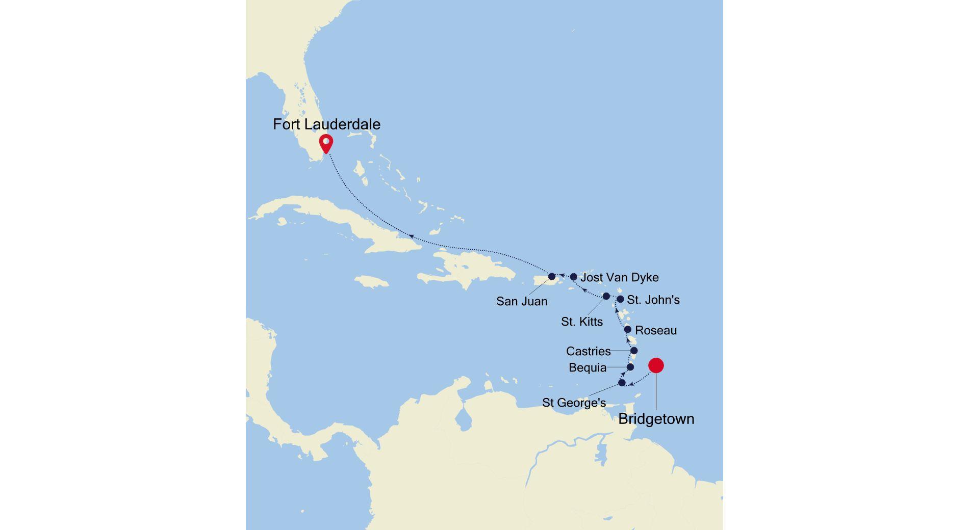 SL220214011 - Bridgetown to Fort Lauderdale