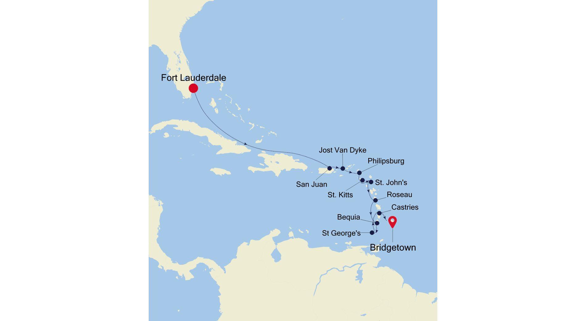 SL220308012 - Fort Lauderdale a Bridgetown