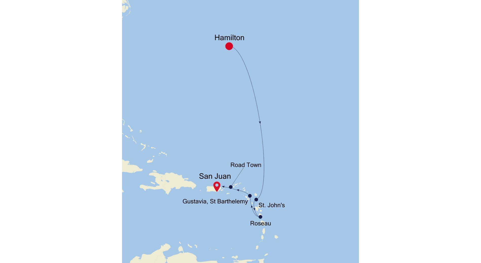 4928A - Hamilton to San Juan