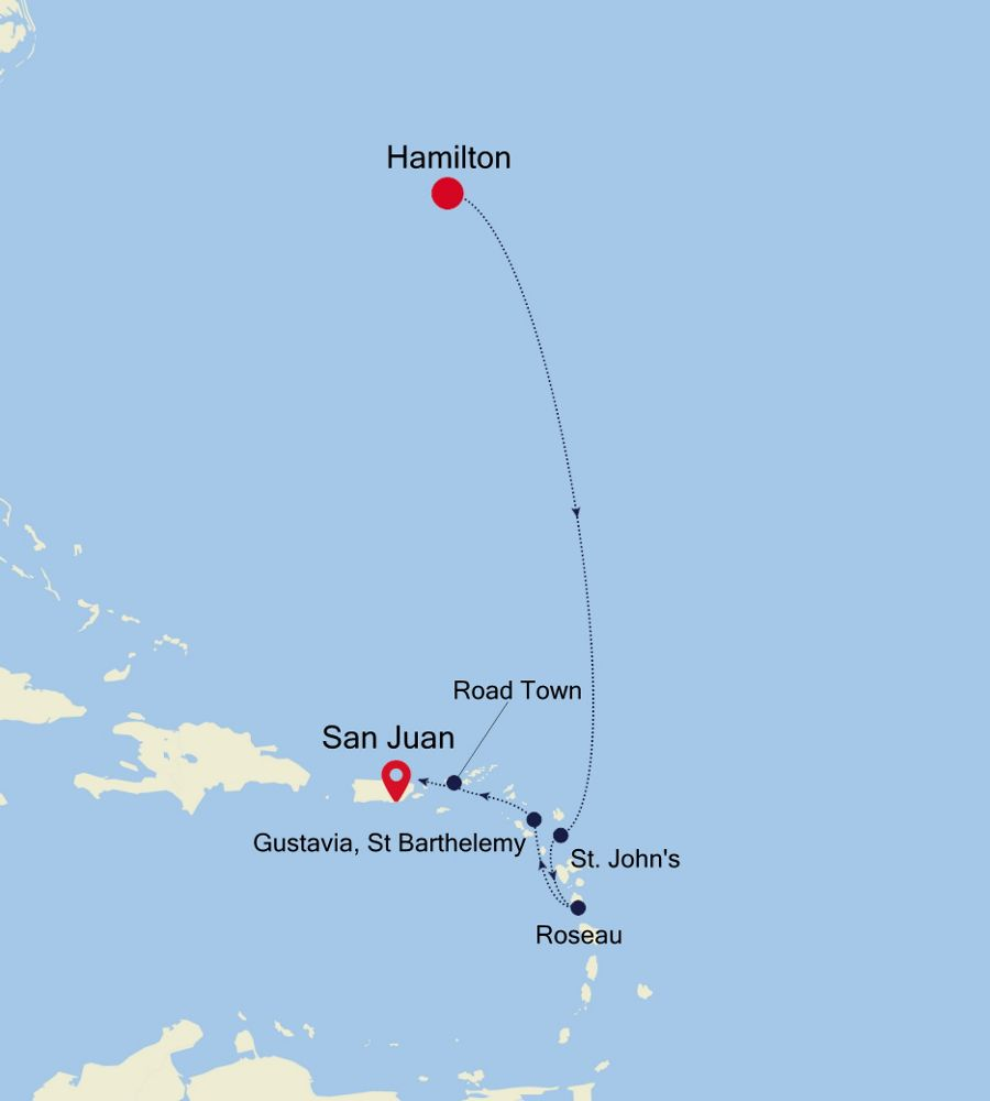 4928A - Hamilton à San Juan