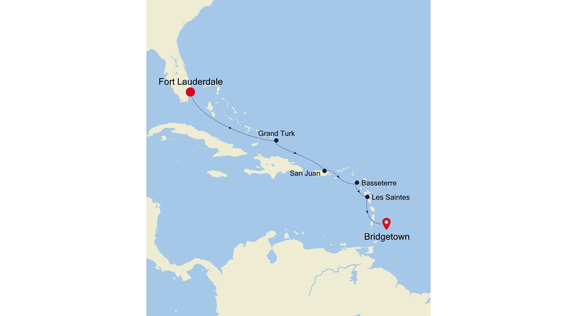 4930A - Fort Lauderdale to Bridgetown