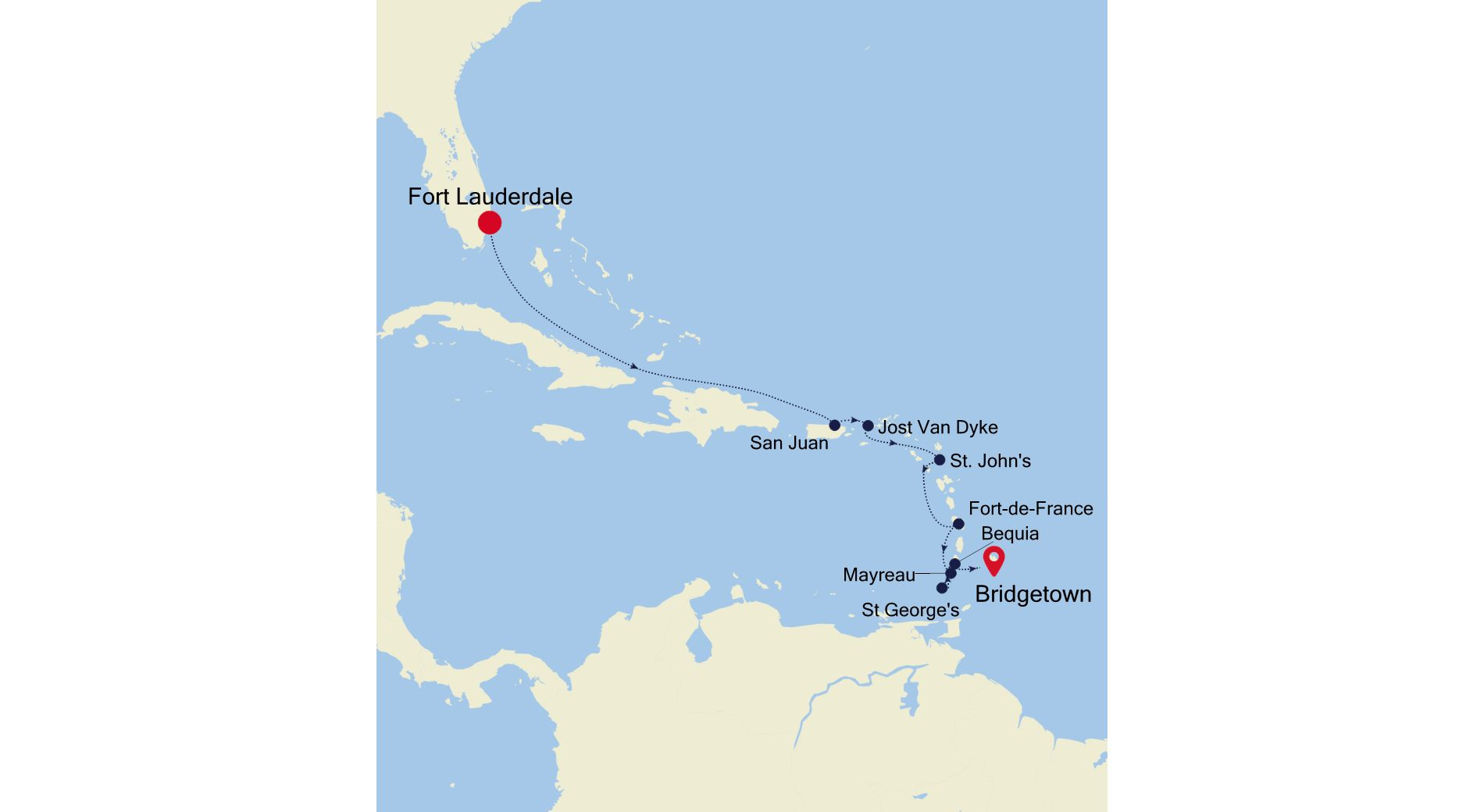 WH201110010 - Fort Lauderdale à Bridgetown