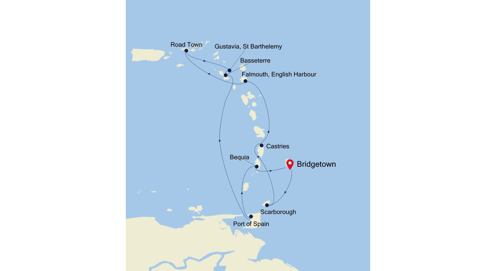WH201218010 - Bridgetown nach Bridgetown