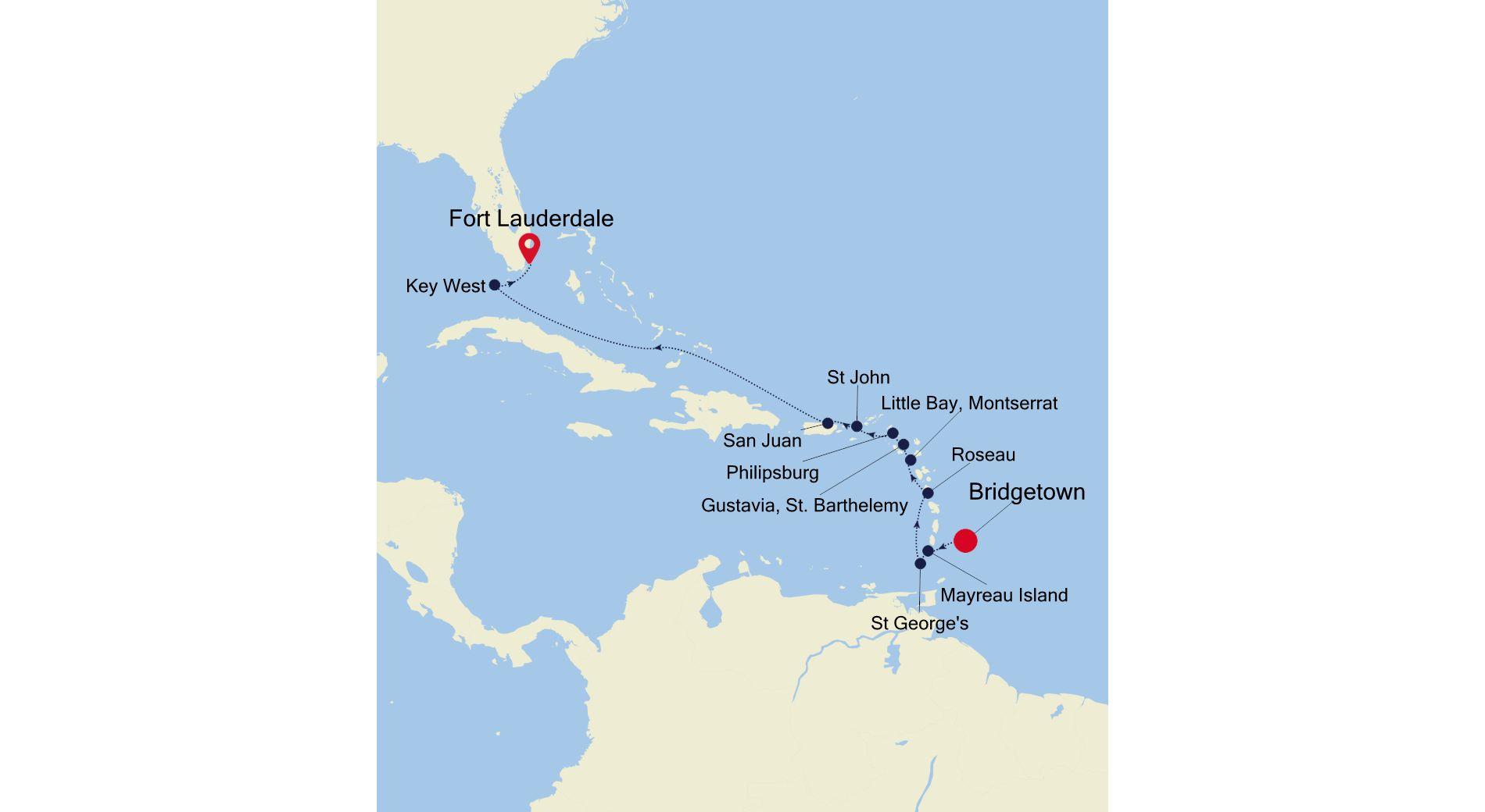 WH211120012 - Bridgetown to Fort Lauderdale