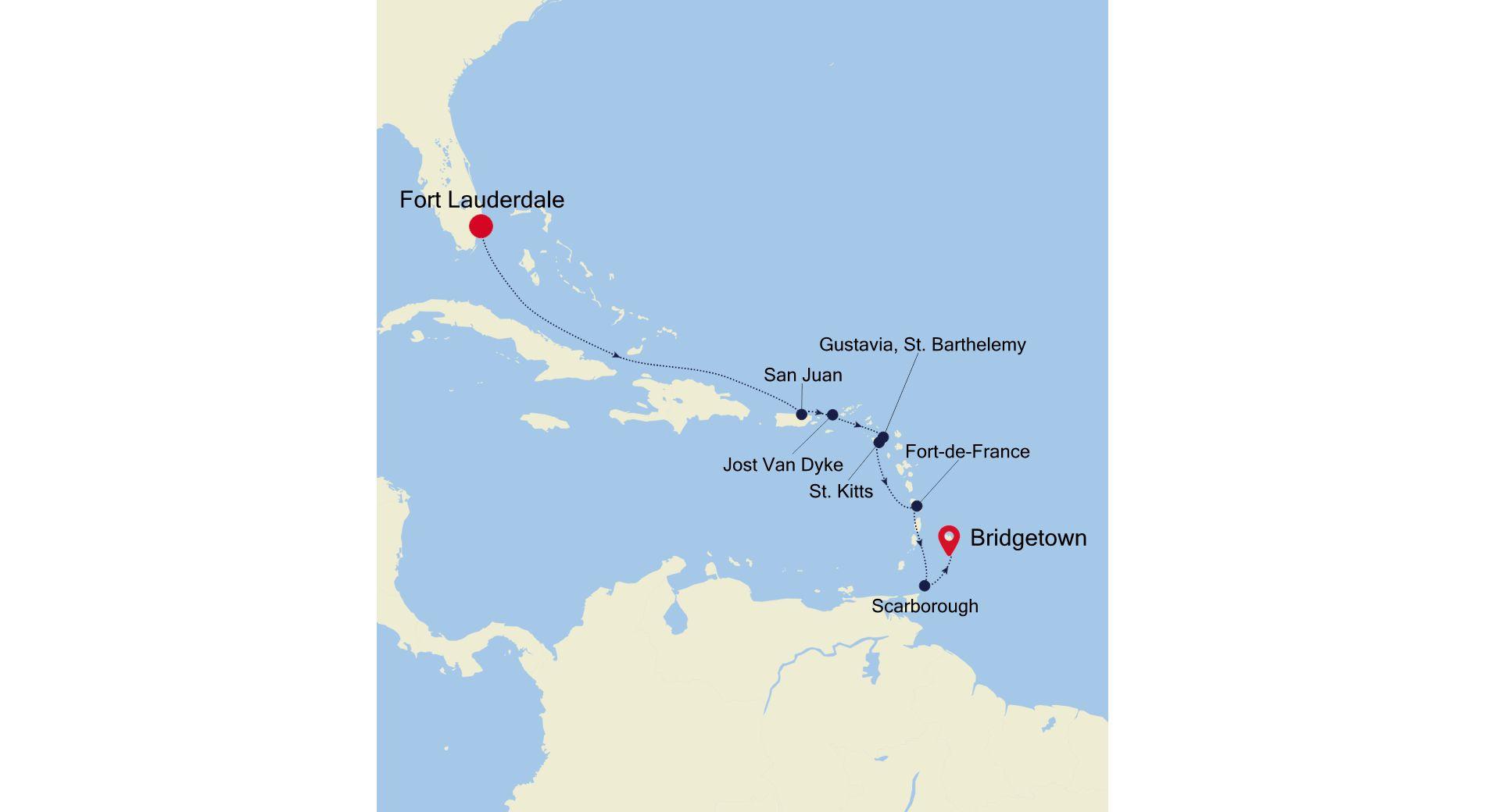 WH211217010 - Fort Lauderdale nach Bridgetown