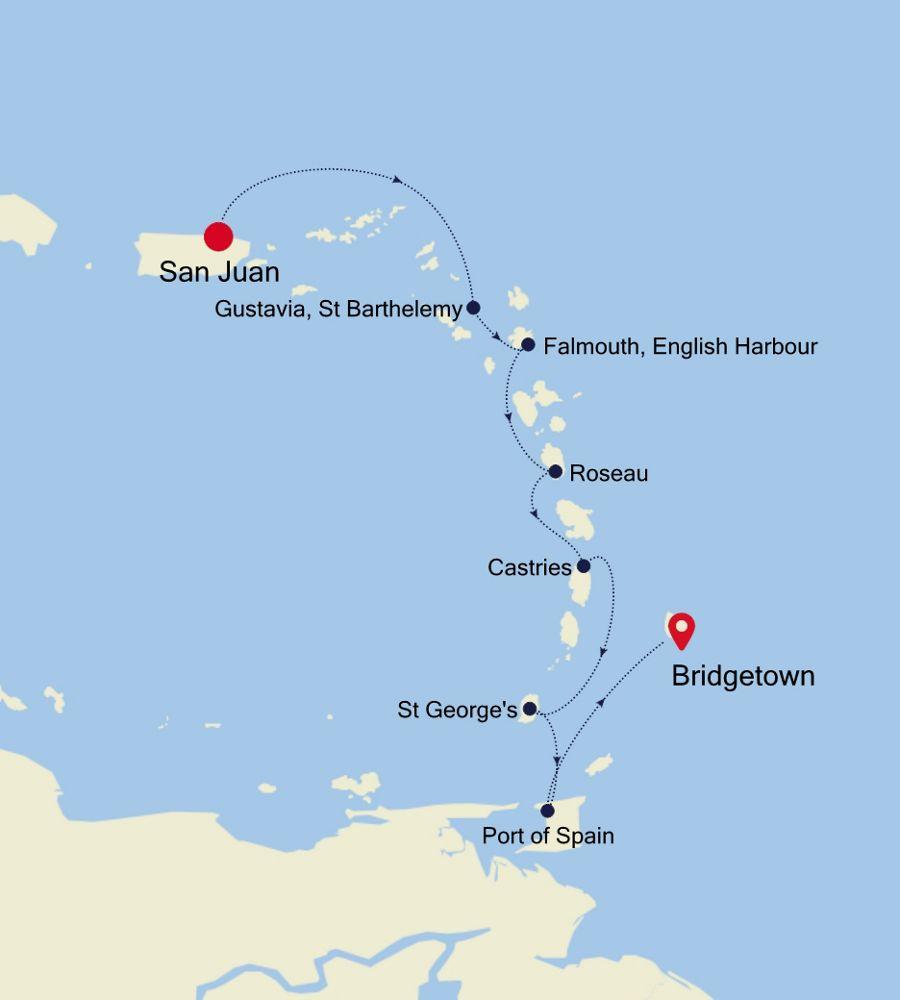 2931A - San Juan nach Bridgetown