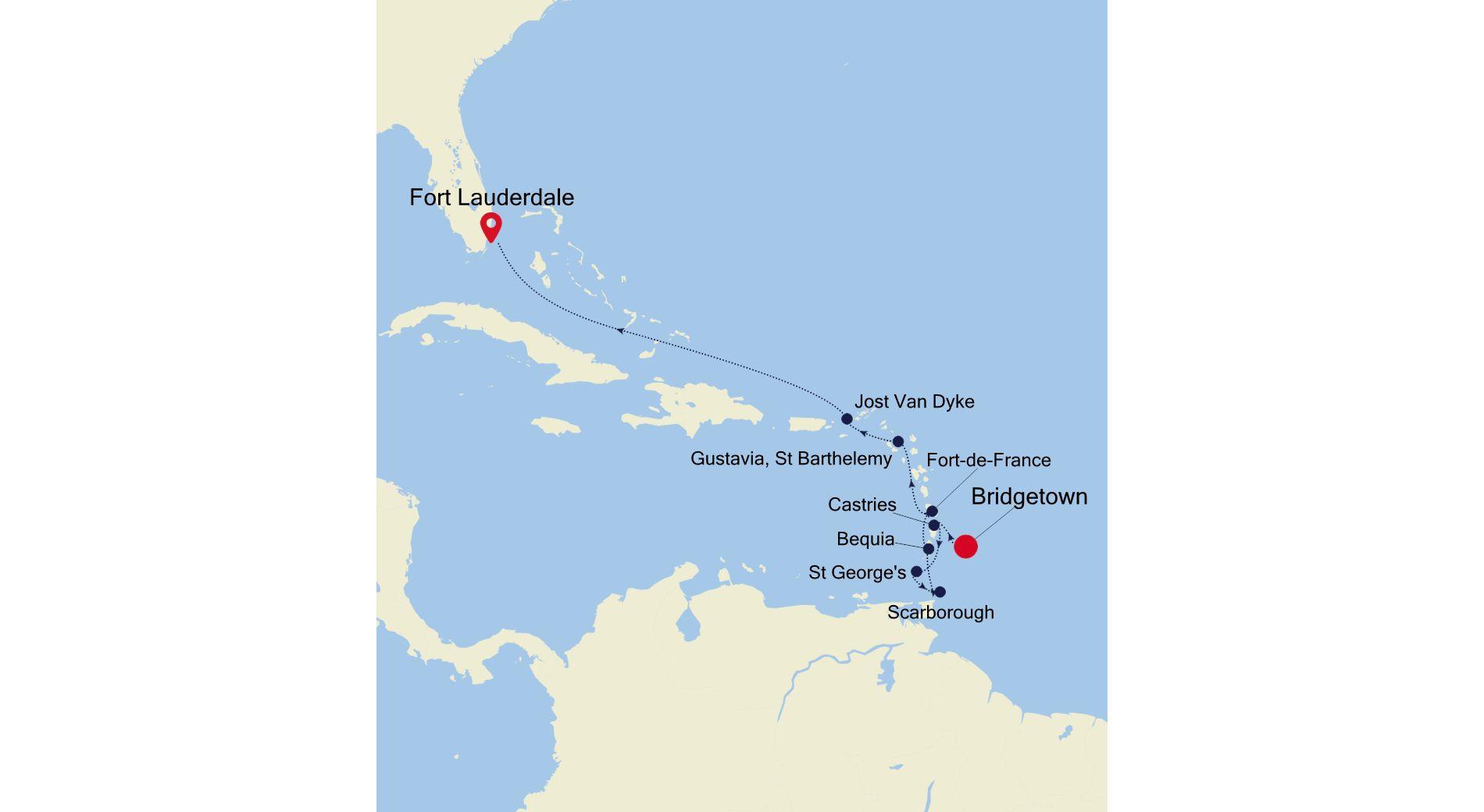2013 - Bridgetown nach Fort Lauderdale