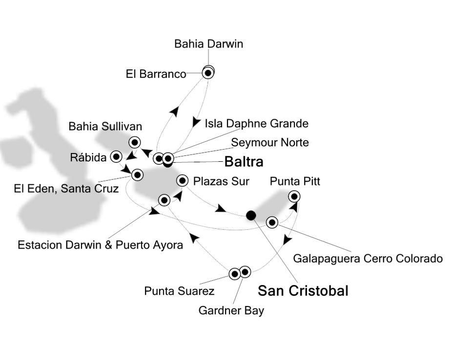 8004 - Baltra nach San Cristobal