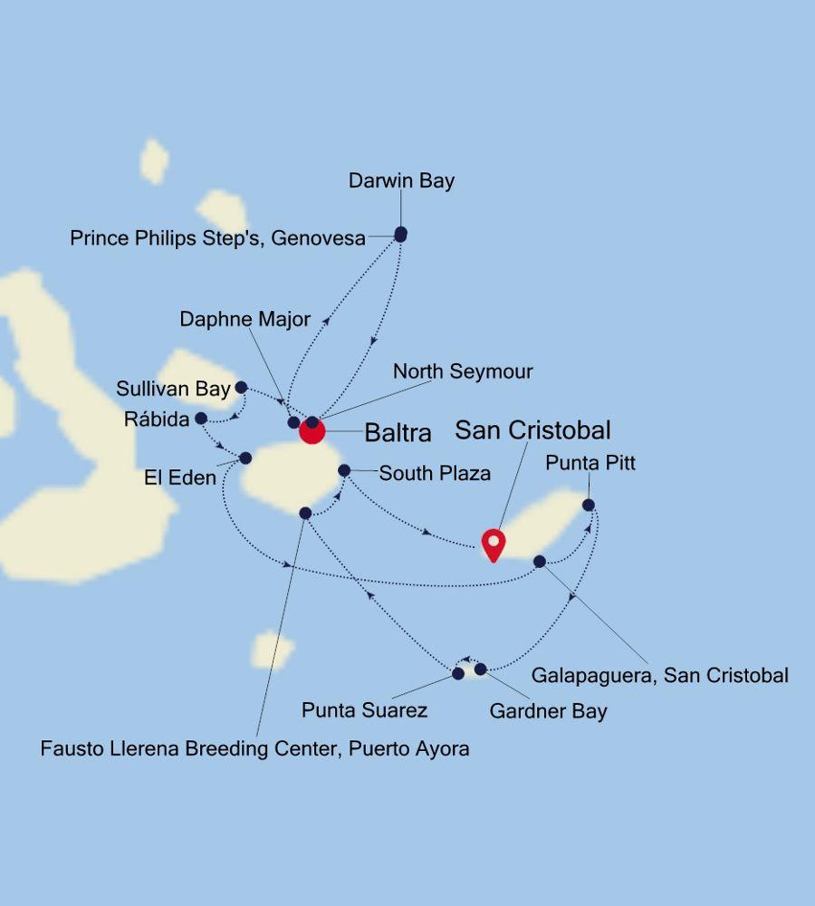 8018 - Baltra nach San Cristobal