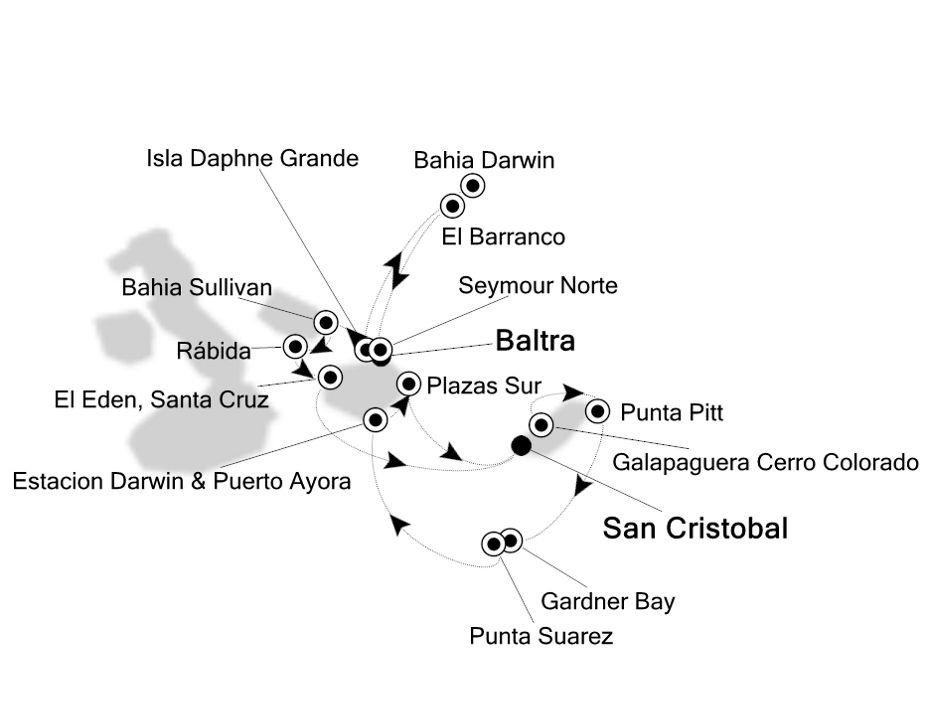 8840 - Baltra nach San Cristobal