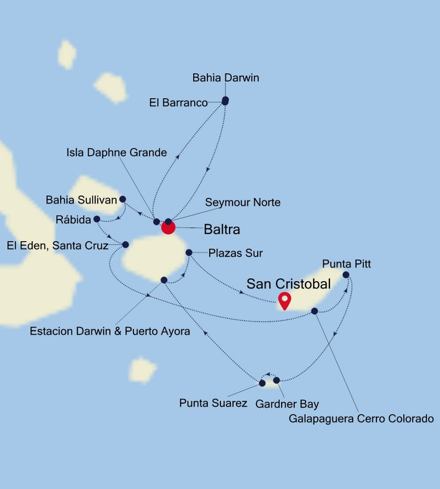 8947 - Baltra nach San Cristobal
