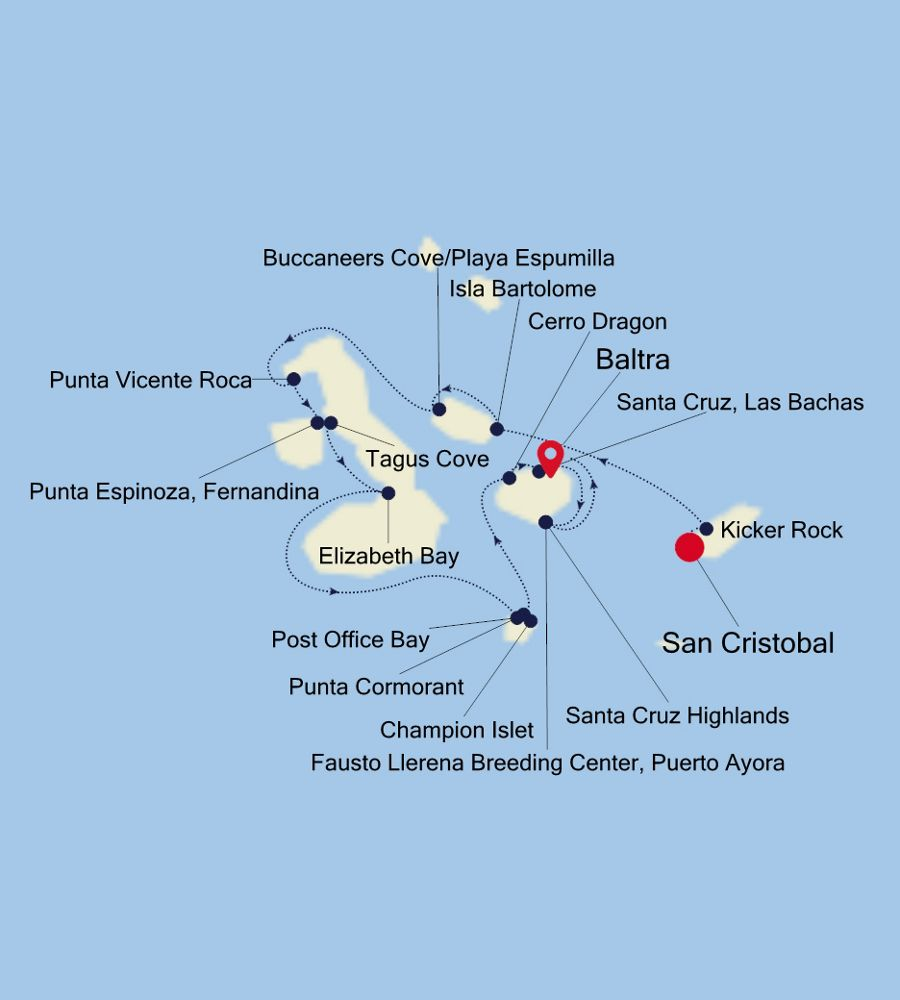 8025 - San Cristobal nach Baltra