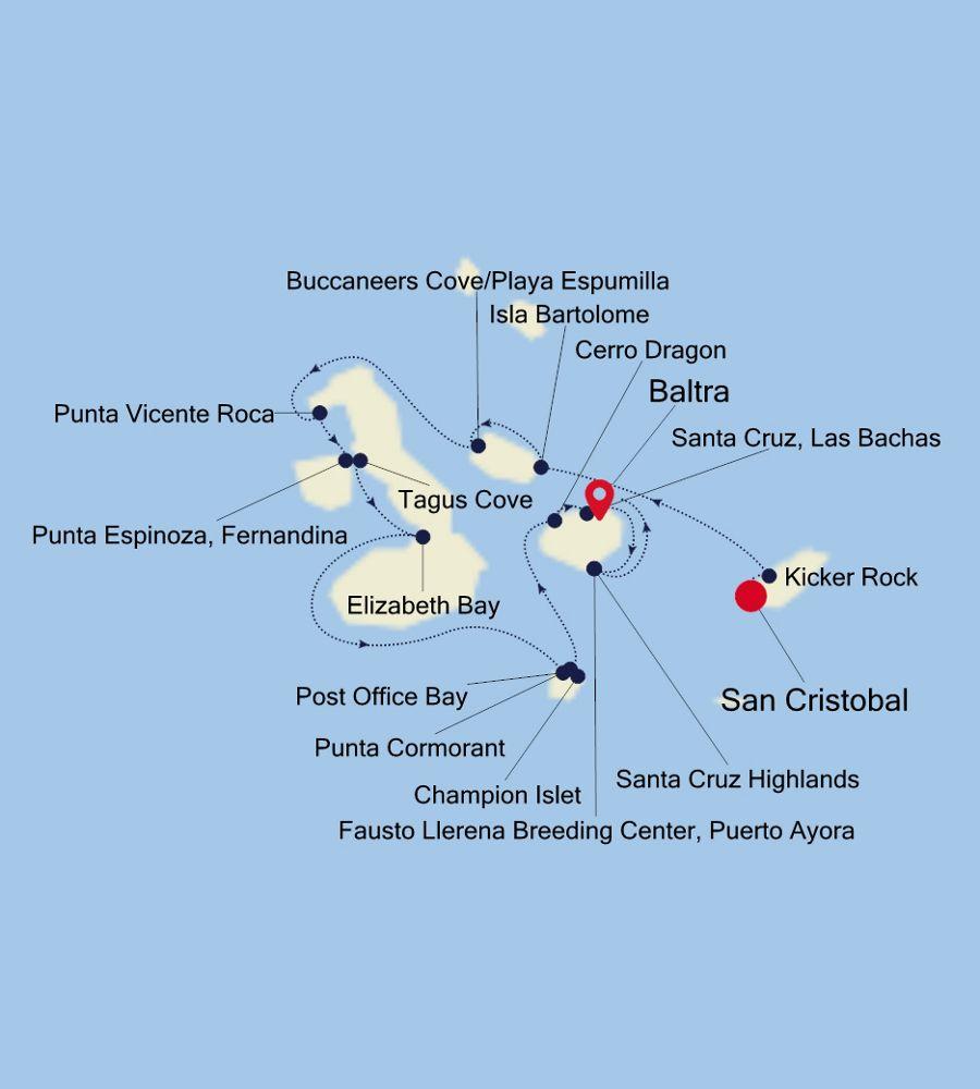 E2200704007 - San Cristobal a Baltra