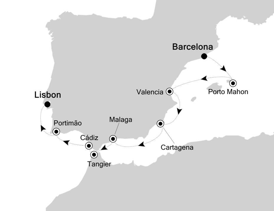 3932 - Barcelona a Lisbon