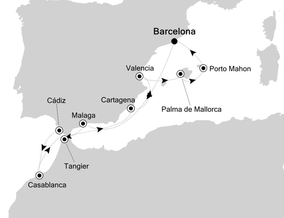 3914 - Barcelona nach Barcelona