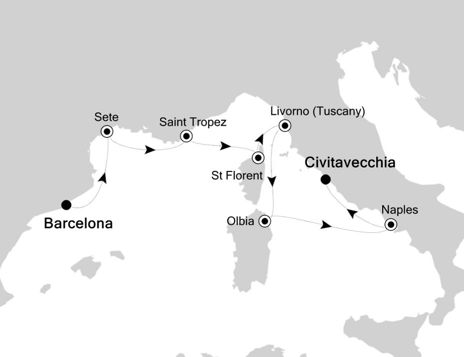 3920 - Barcelona to Civitavecchia