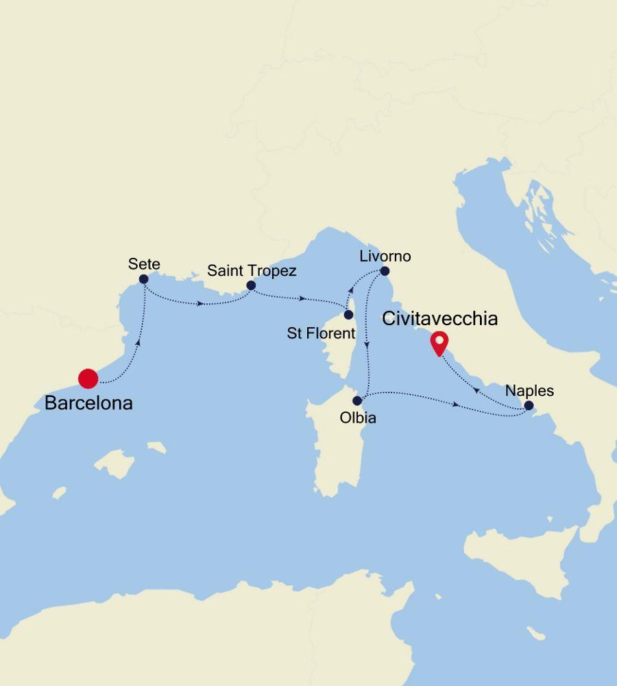 3920 - Barcelona a Civitavecchia