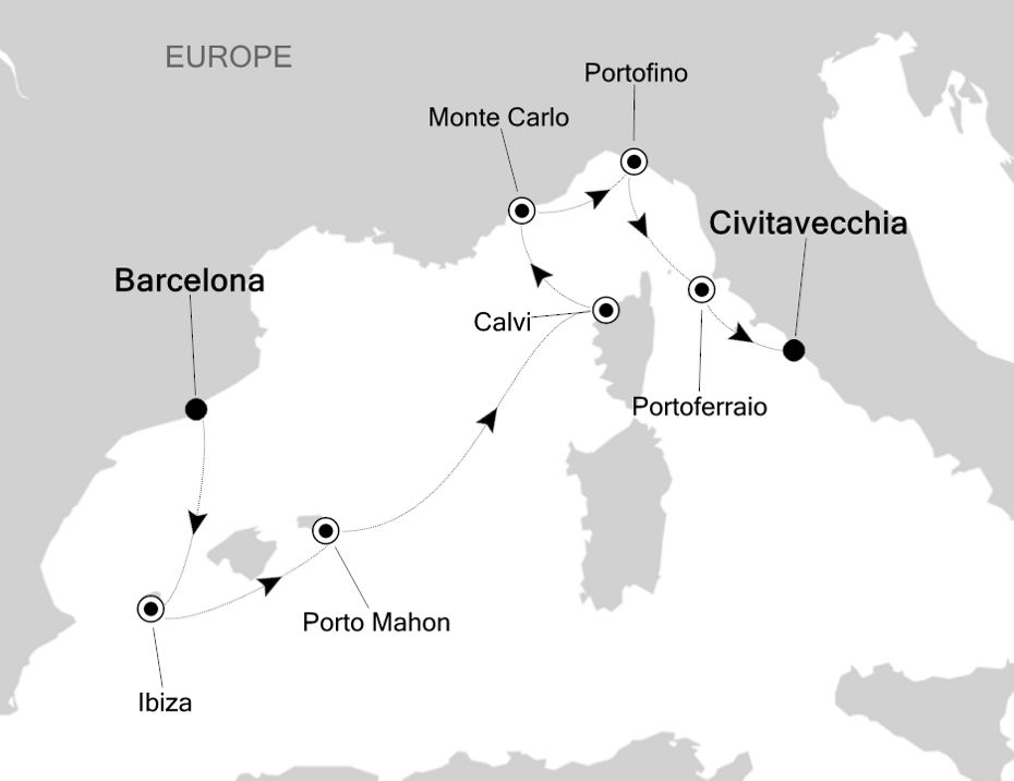 4818 - Barcelona to Civitavecchia