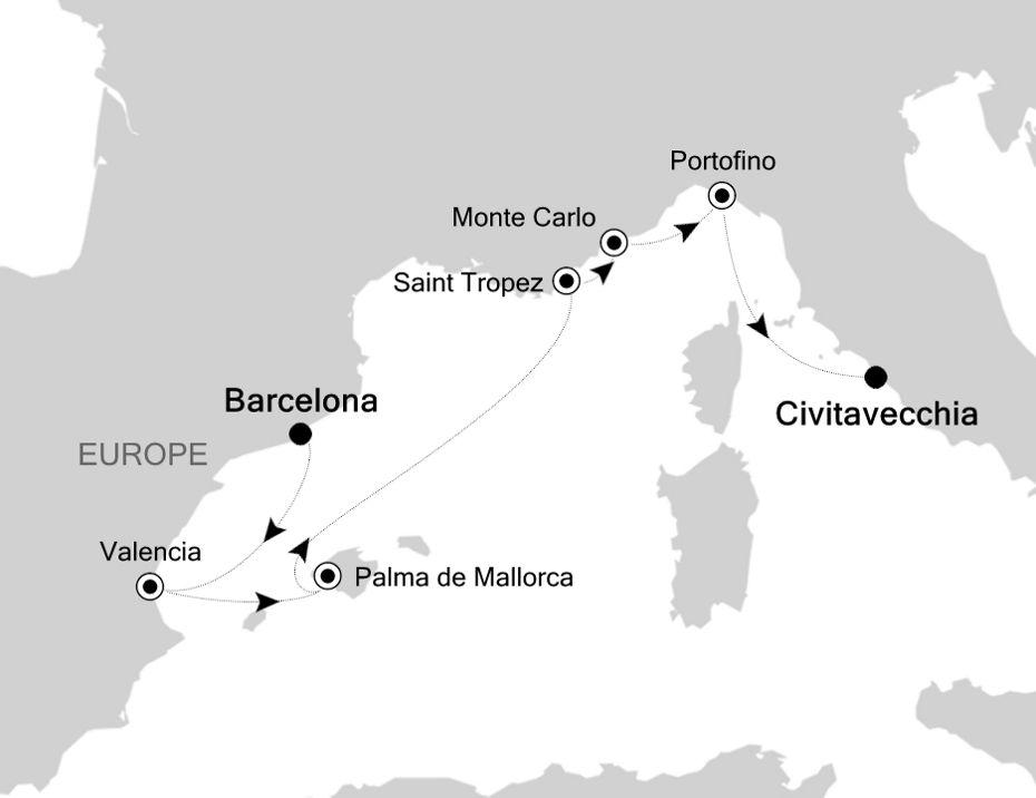 4911 - Barcelona à Civitavecchia