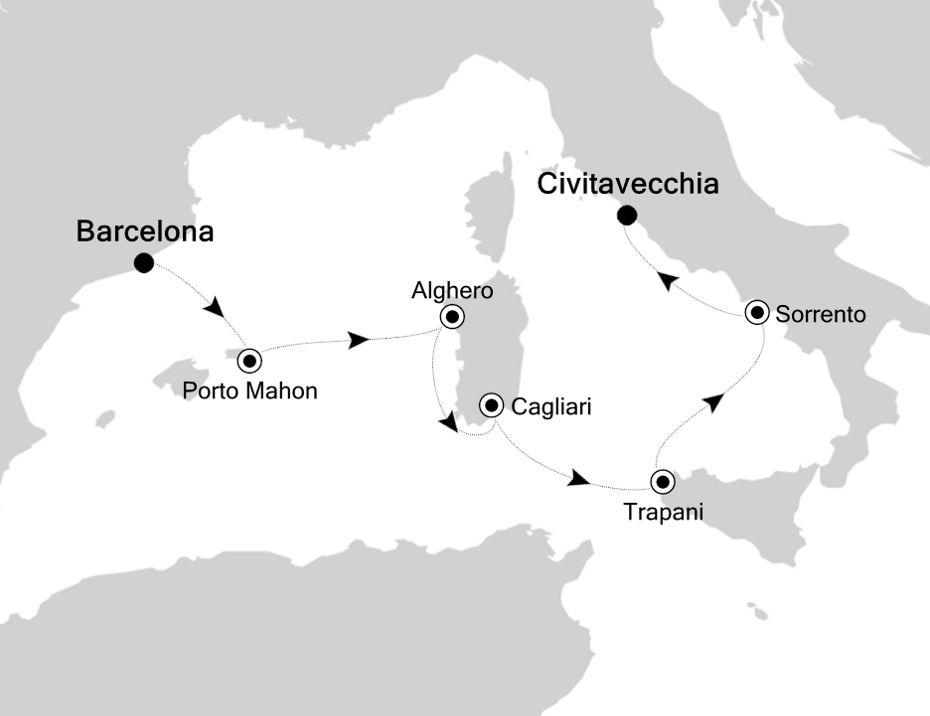 5912 - Barcelona to Civitavecchia