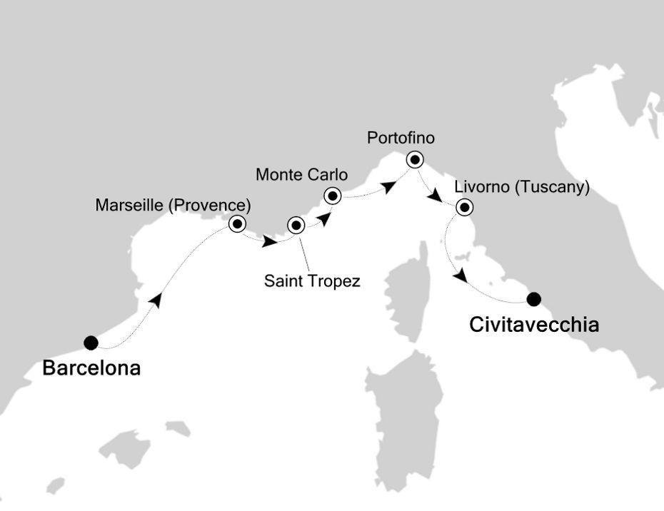 5928 - Barcelona nach Civitavecchia