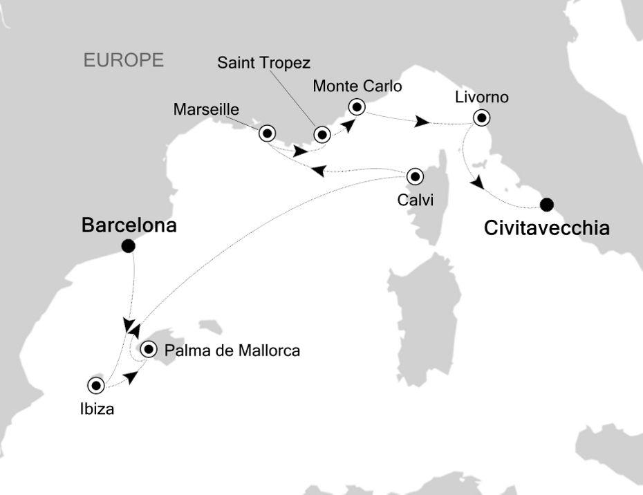6812 - Barcelona nach Civitavecchia