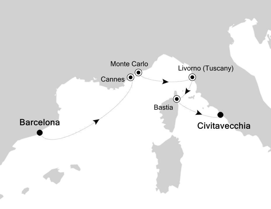 6821 - Barcelona nach Civitavecchia