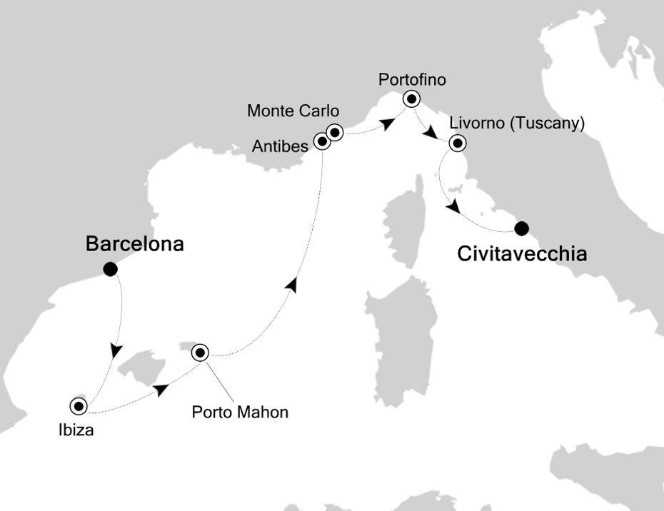6825 - Barcelona nach Civitavecchia