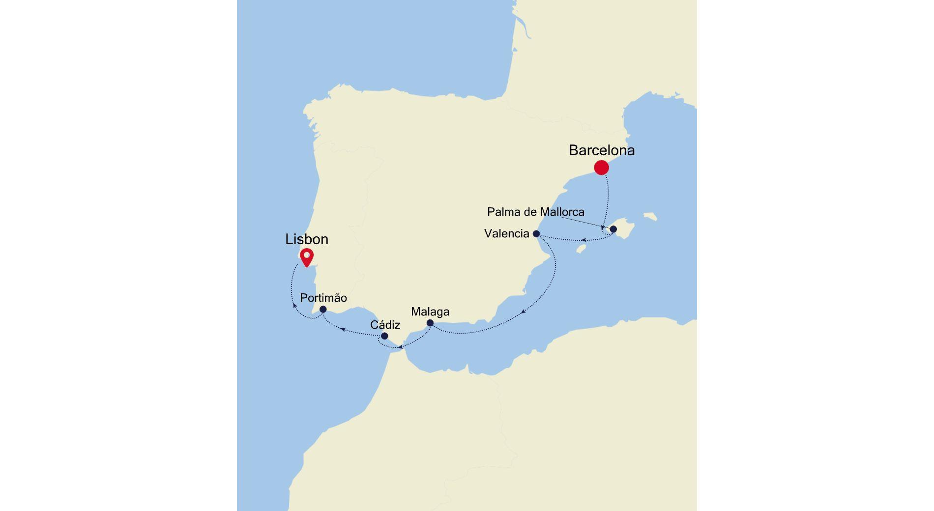 3922 - Barcelona to Lisbon