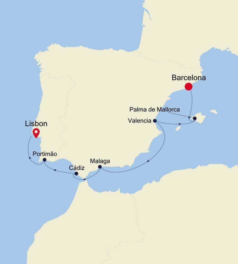 3922 - Barcelona a Lisbon