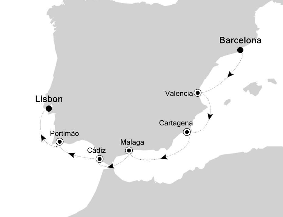 4923 - Barcelona nach Lisbon