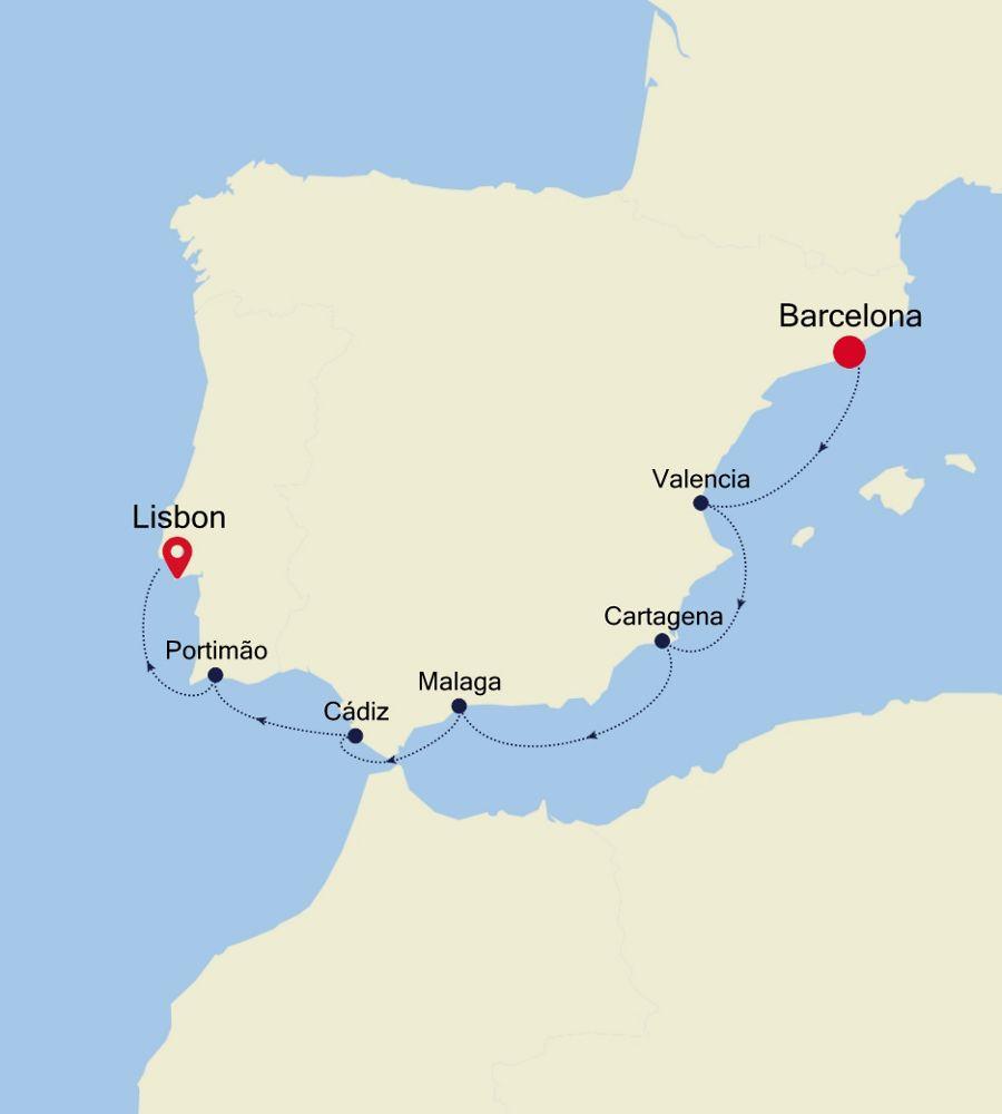 4923 - Barcelona a Lisbon