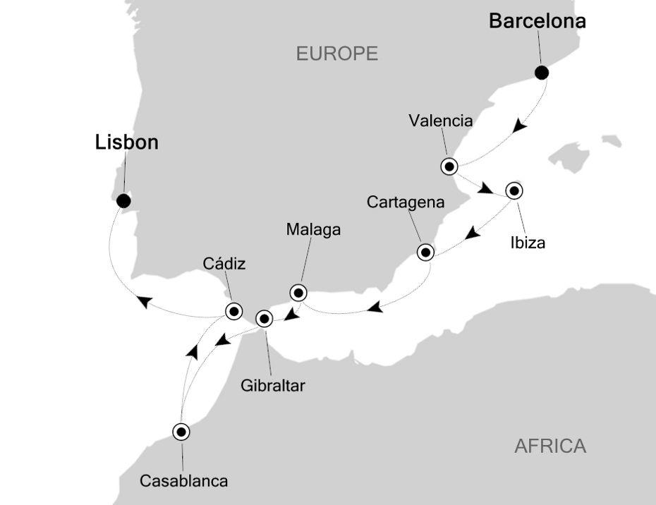 5812 - Barcelona a Lisbon