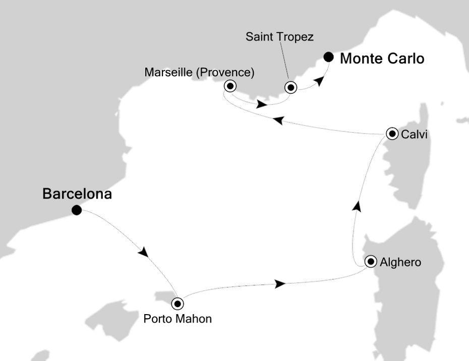 3915 - Barcelona nach Monte Carlo