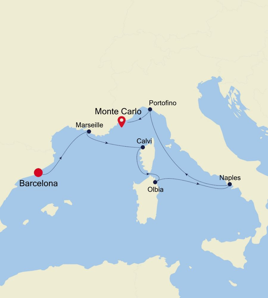 3925 - Barcelona to Monte Carlo