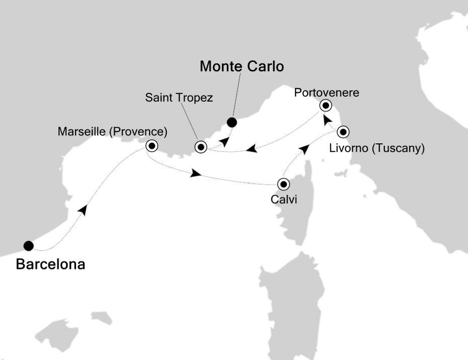 6817 - Barcelona à Monte Carlo