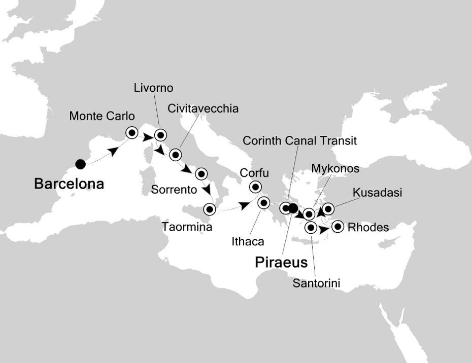 2815 - Barcelona a Piraeus