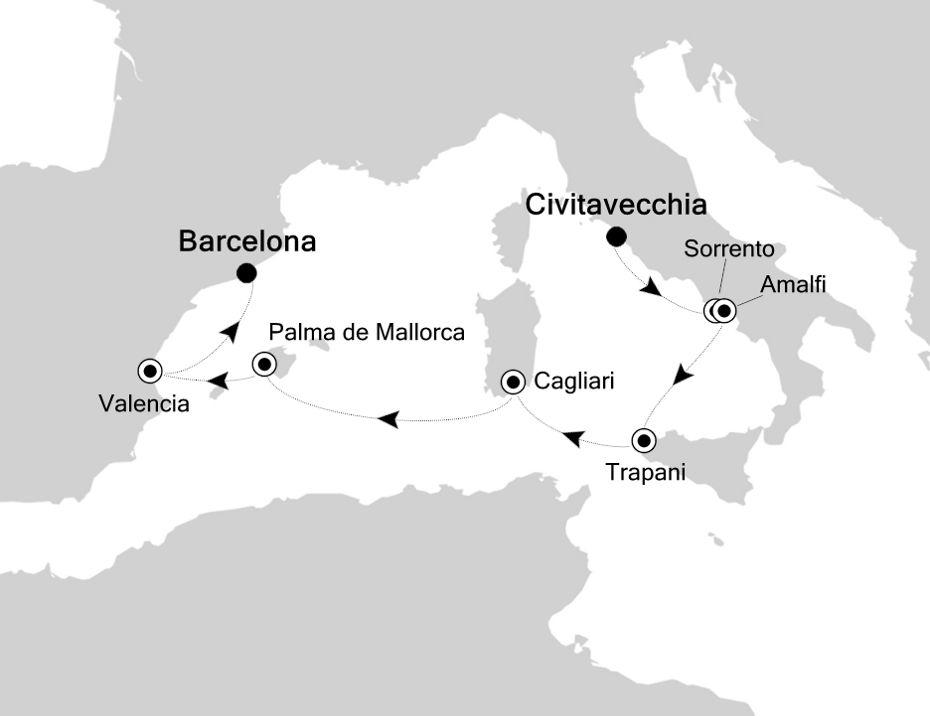3921 - Civitavecchia nach Barcelona