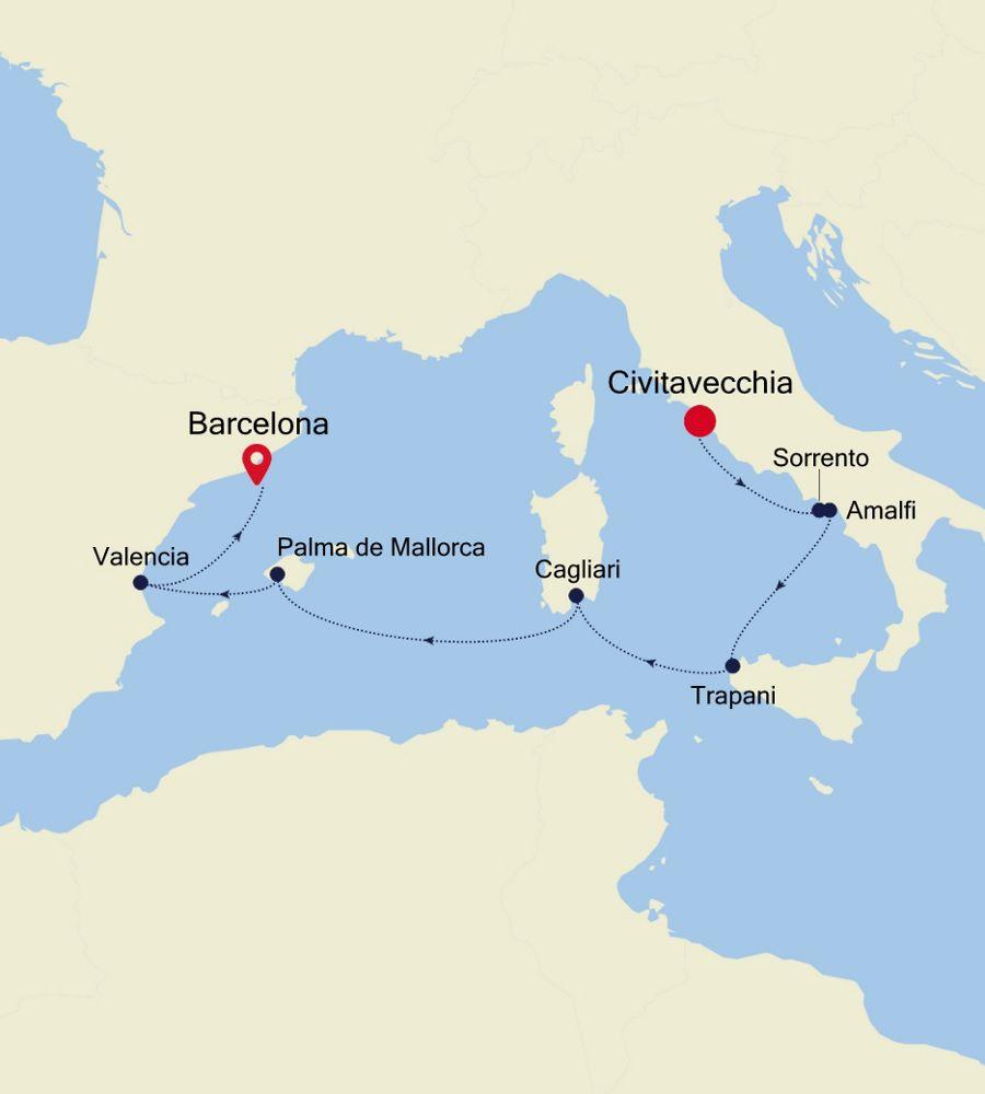 3921 - Civitavecchia to Barcelona