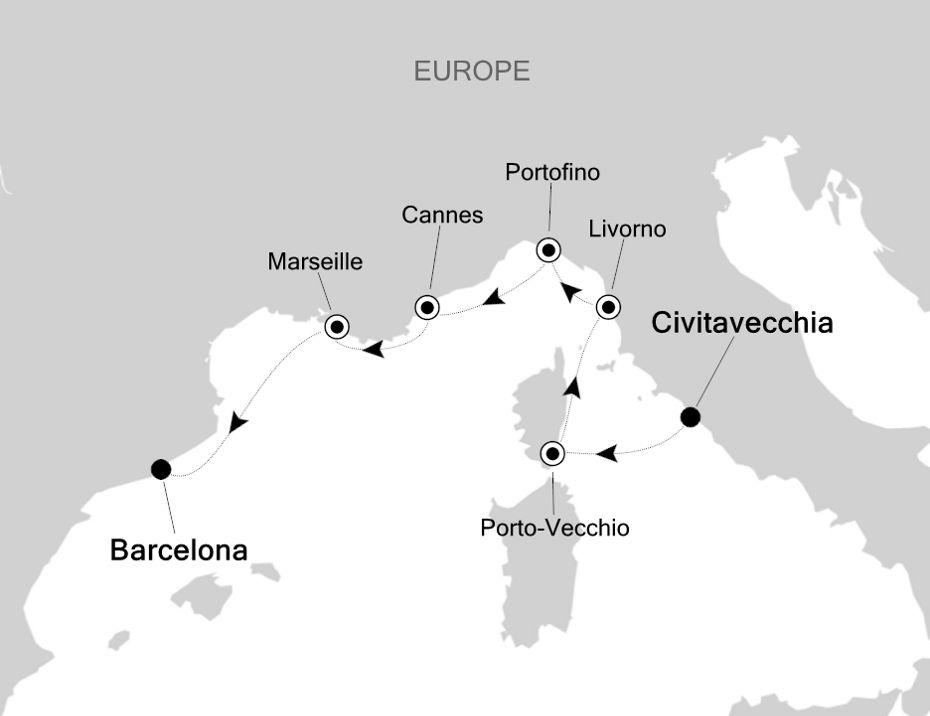 5811 - Civitavecchia a Barcelona