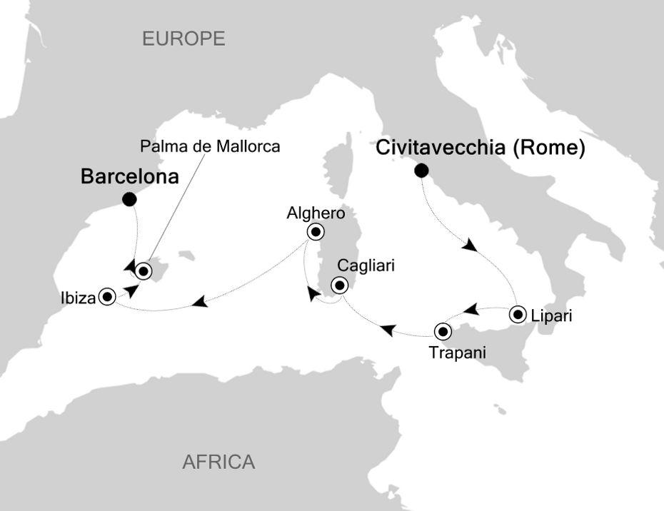 6816 - Civitavecchia nach Barcelona